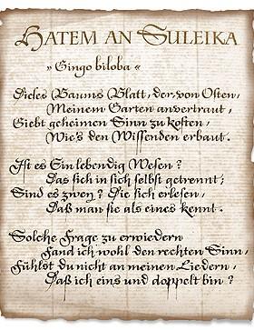 Gingo biloba - Goethe